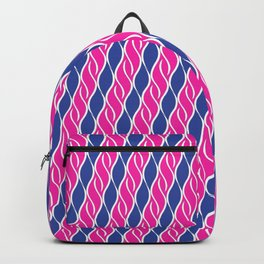 Blue and Pink Wispy Stripes Backpack