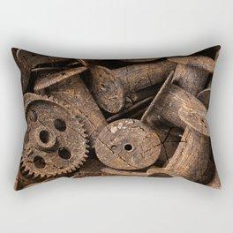 Cracked Wood Bobbins Rectangular Pillow