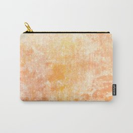 Marbling structur in warm orange tones Carry-All Pouch