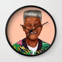 Hipstory - Nelson Mandela Wall Clock