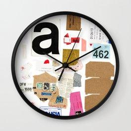 Paper Trail I  Wall Clock