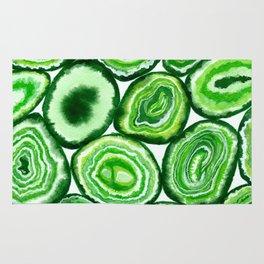 Green agate pattern Rug