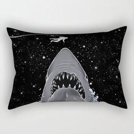 Astronaut Meet the Jaws Rectangular Pillow