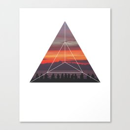 Good Friends and Sunset - Geometric Photography Canvas Print