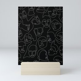 Face Lace Mini Art Print