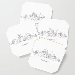 Philadelphia Skyline Drawing Coaster