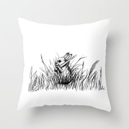 A Bunny. With a Sword. Throw Pillow