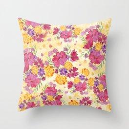 Autumn Floral Bouquet Throw Pillow