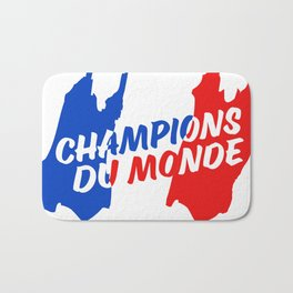 World Champions French Soccer Football Bath Mat