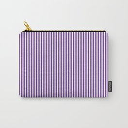 Purple Pinstripes Carry-All Pouch
