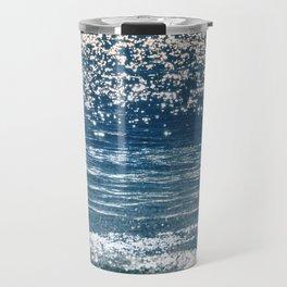 Blue Sea Sparkle Travel Mug