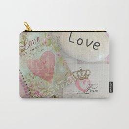 Shabby Chic Love Romantic Decor - Love Skeleton Key Prints Home Decr Carry-All Pouch