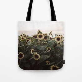 In The Sunflower Field Tote Bag