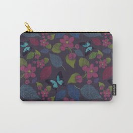 seamless  pattern with flowers and butterfly. Carry-All Pouch