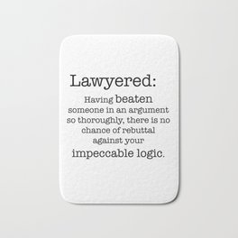 Lawyered Bath Mat