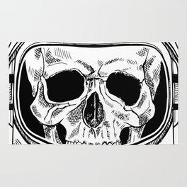 space  skull Rug