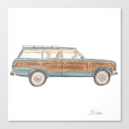 Jeep Grand Wagoneer Station Wagon Teal, Mint, Aqua Canvas Print