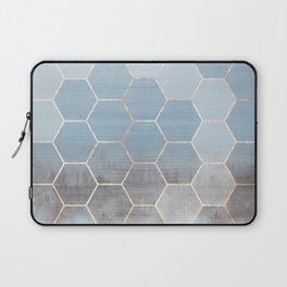 honeycomb winter forest // copper & blue Laptop Sleeve