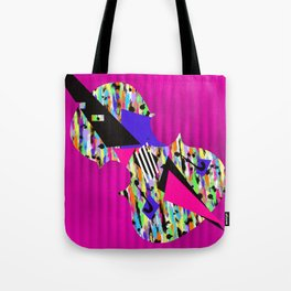 Cello Abstraction on Hot Pink Tote Bag