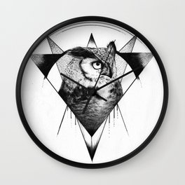 Ink Owl Wall Clock