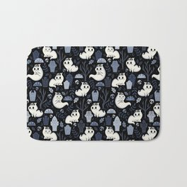 Ghost Cats in the Cemetery Bath Mat