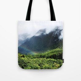 New Zealand's beauty *Fox Glacier's Tropical Forest Tote Bag
