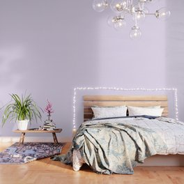 Chalky Pale Lilac Pastel and White Gingham Check Plaid Wallpaper