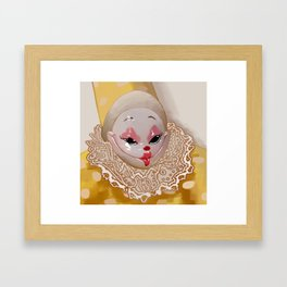 Small but knowing clown Framed Art Print