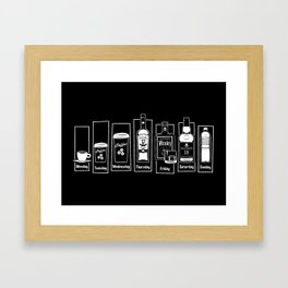 Coffee Whiskey Calendar Framed Art Print