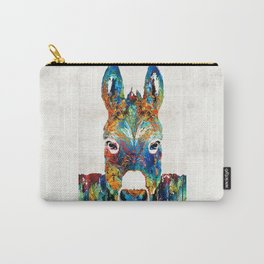 Colorful Donkey Art - Mr. Personality - By Sharon Cummings Carry-All Pouch