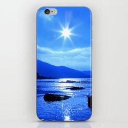 Beach In Blue iPhone Skin