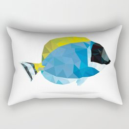 Geometric Abstract Powder Blue Tang Fish Rectangular Pillow