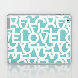 Hidden blue LOVE message Laptop & iPad Skin