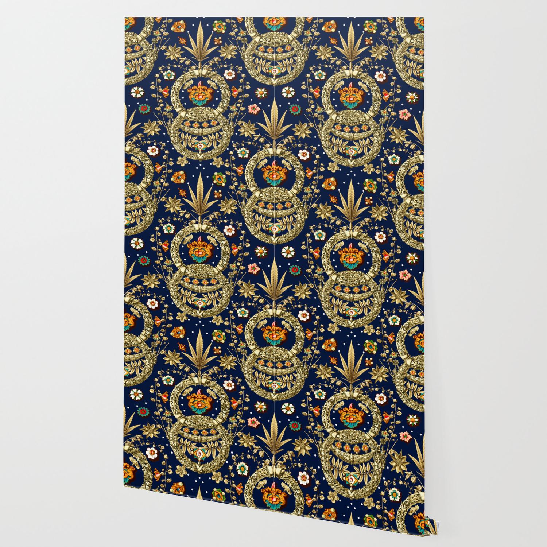 Art Nouveau Floral Pattern Wallpaper By Burcukorkmazyurek Society6