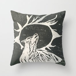 shadow wolf Throw Pillow