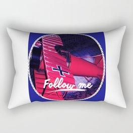 Follow me , Sigueme, Suis Moi, Vold Mic, Forge Mir Rectangular Pillow