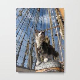 Ship Cat Ditty Metal Print