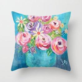 Fleurissez Throw Pillow