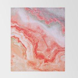 Luxury Rose Gold Agate Marble Geode Gem Throw Blanket
