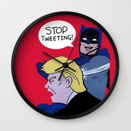Trump Stop Tweeting Wall Clock