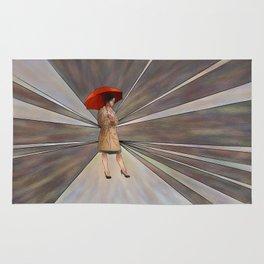 Limessia - beauty with umbrella Rug