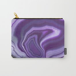 Purple colored agate Carry-All Pouch