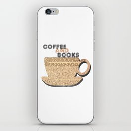 Coffee and books. iPhone Skin