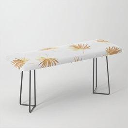 Golden Palm Leaf Bench