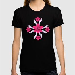 Holy orchid pattern T-shirt