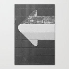 Arrow (Black and White) Canvas Print