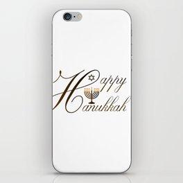 Happy Hanukkah- Jewish holiday celebration with star of David iPhone Skin