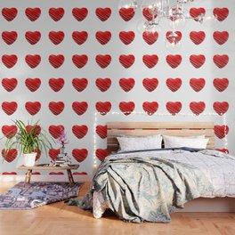 Scribbled red valentine heart- be my valentine Wallpaper