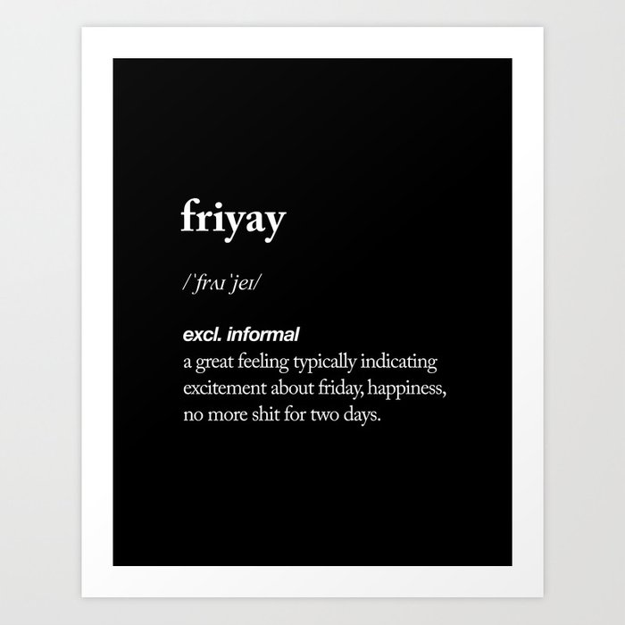 Friyay Black And White Contemporary Minimalism Typography Design Home Wall  Decor Bedroom Art Print
