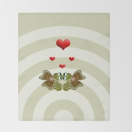 Caterpillars's Love Throw Blanket